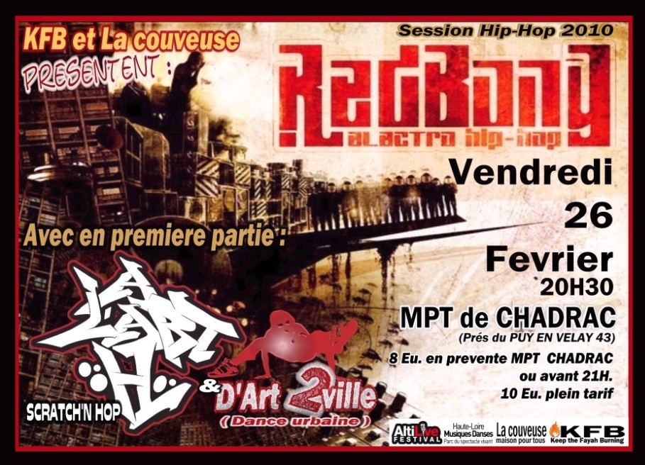 Concert Altilive : Redbong / A L'Art H / d'Art 2 Ville