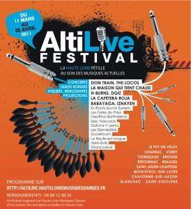 Affiche de l'Altilive Festival