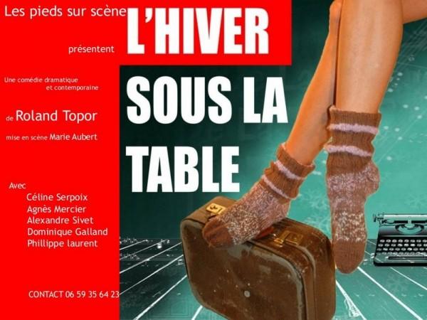 affiche un hiver sous la table