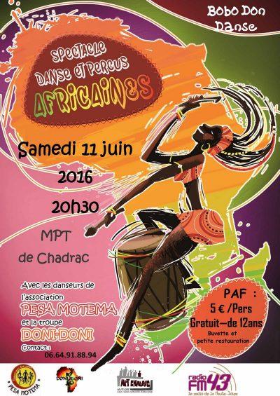 Spectacle de danse et percussions  africaines «BOBO DON DANSE»