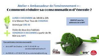Atelier «Ambassadeur de l'environnement»