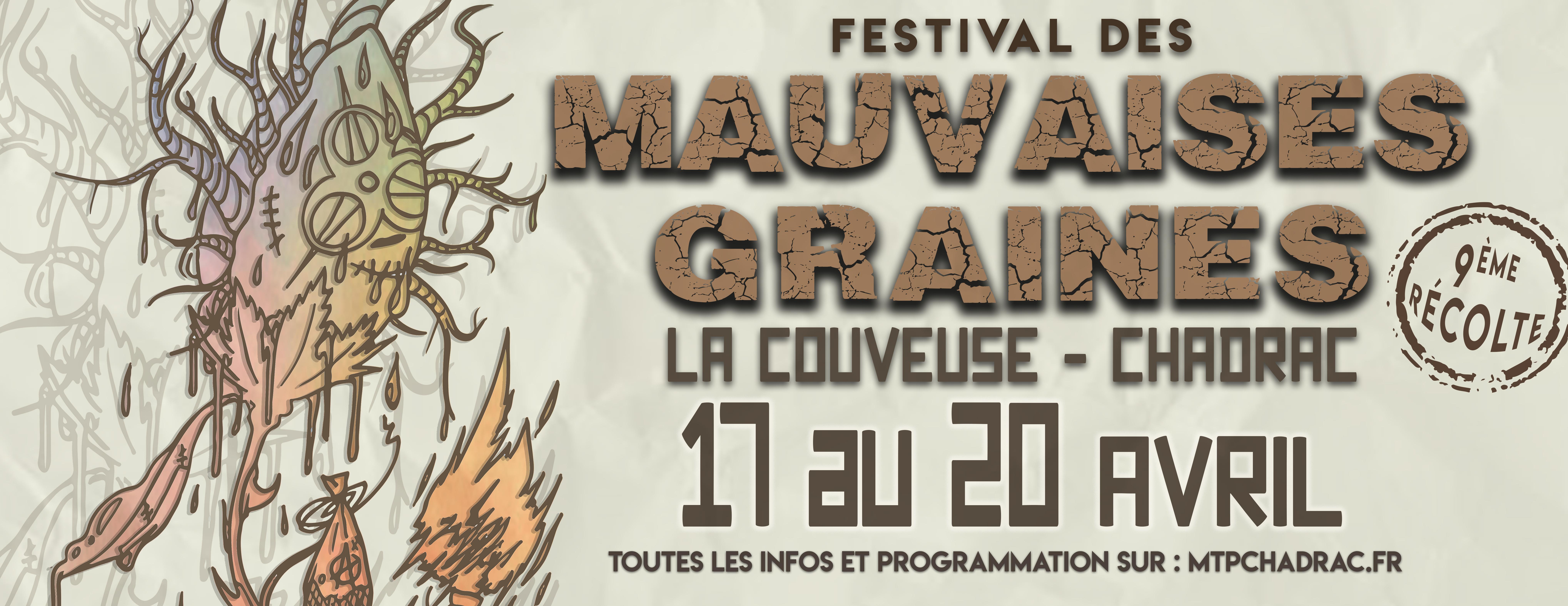 Découvrez toute la programmation de la 9ème récolte du festival des Mauvaises Graines